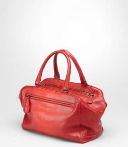 Bottega Veneta Fraise New Red Madras Sfumato Brera Small Bag