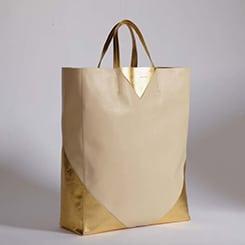 Celine Beige/Gold Coeur Cabas Bag