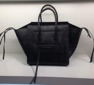 Celine Black Croc Embossed Phantom Bag - Cruise 2014