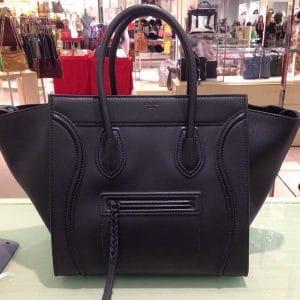 Celine Black Pebbled Leather Phantom Bag - Cruise 2014