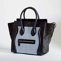 Celine Black/Baby Blue Mini Luggage Bag