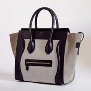Celine Black/Grey Mini Luggage Bag