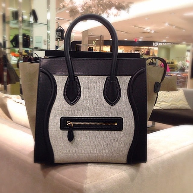 celine luggage handbag in leather