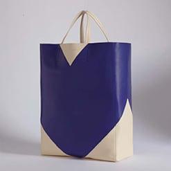 Celine Navy/Beige Coeur Cabas Bag