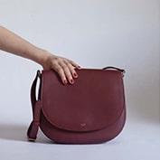 Celine Burgundy Trotteur Bag