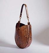Celine Caramel Python Hobo Bag