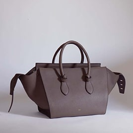 Celine Dark Khaki Tie Tote Bag