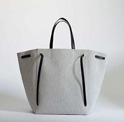 Celine Grey Canvas Cabas Phantom Bag