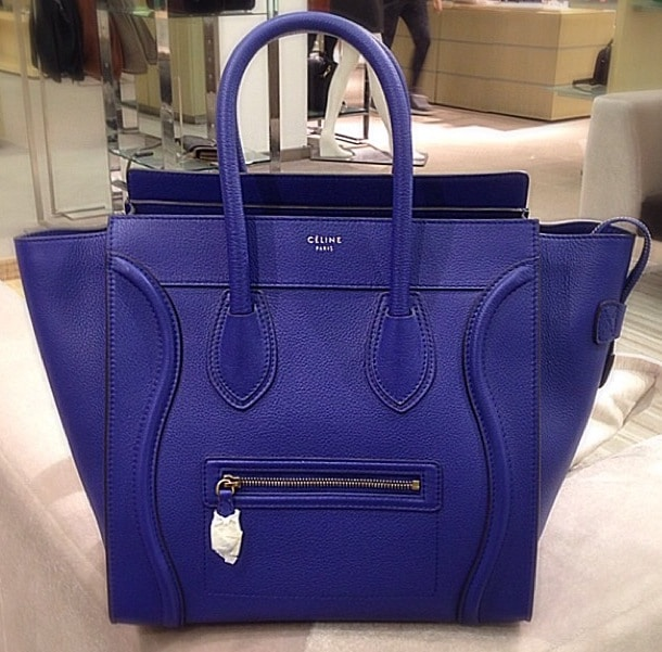 authentic celine bags - Celine-Indigo-Blue-Pebbled-Leather-Mini-Luggage-Bag-Cruise-2014.jpg