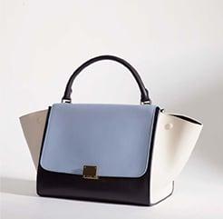 Celine Baby Blue Tricolor Trapeze Bag