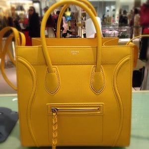 Celine Saffron Yellow Grained Leather Phantom Bag - Cruise 2014