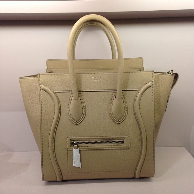 celine gray 7rv7  celine taupe mini luggage