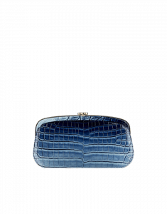 Chanel Alligator Blue Clutch with Kisslock closure - Cruise 2014