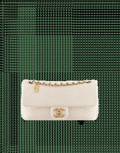 Chanel Beige Herringbone Flap Bag - Cruise 2014