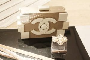 Chanel Beige and White Lego Clutch - Spring Summer 2014