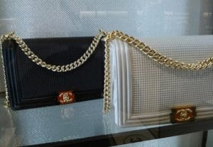 Chanel Black / White Cube Boy Medium Flap Bags