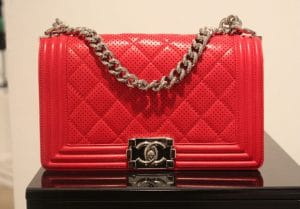 Chanel Boy Perforated Flap Bag - Spring Summer 2014