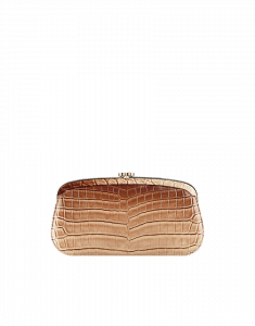 Chanel Brown Alligator Clutch with Kisslock Closure - Cruise 2014