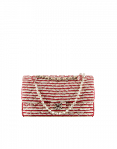 Chanel Coco Sailor Red and White Flap Bag - Cruise 2014