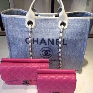 Chanel Deauville Canvas Tote and Chanel Crossing Time bag - Cruise 2014
