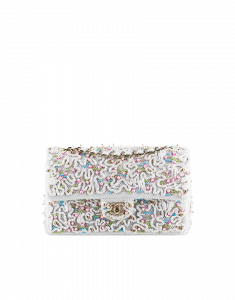 Chanel Embroidered Timeless Classic Flap Bag - Cruise 2014