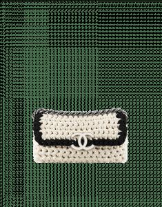 Chanel Fancy Crochet Beige Flap Bag - Cruise 2014