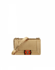 Chanel Gold Cube Boy Small Flap Bag