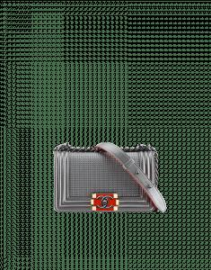 Chanel Grey Cube Boy Small Flap Bag