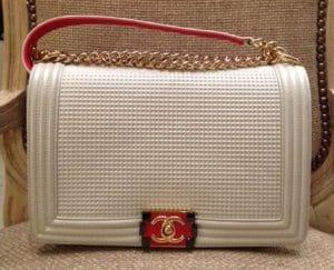 Chanel White Cube Boy Large Flap Bag