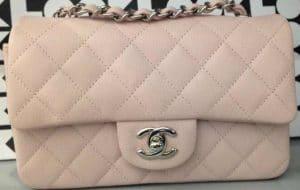 Chanel Light Pink Classic Flap Mini Bag - Cruise 2014