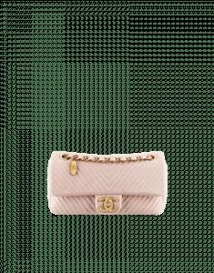 Chanel Mini Pink Herringbone Flap Bag - Cruise 2014