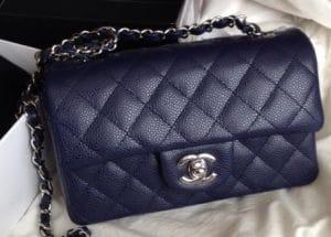 Chanel Navy Classic Flap Mini Bag - Cruise 2014