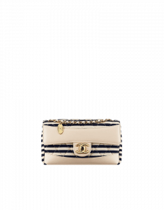 Chanel Navy Coco Sailor Jersey Flap Bag - Cruise 2014