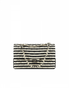 Chanel Navy Coco Sailor with Pearl Chain Flap Bag - Cruise 2014