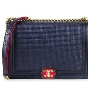 Chanel Navy Cube Boy Jumbo Flap Bag