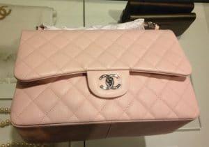 Chanel Pink Classic Flap Jumbo Bag - Cruise 2014