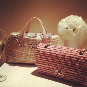Chanel Quilted Red White Flap Bag - Cruise 2014 collection -2