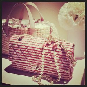 Chanel Quilted Red White Flap Bag - Cruise 2014 collection