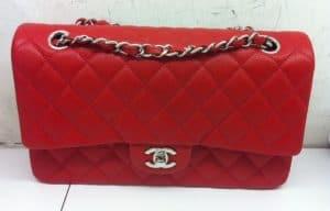 Chanel Red Classic Flap Medium Bag - Cruise 2014