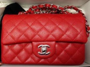 Chanel Red Classic Flap Mini Bag - Cruise 2014