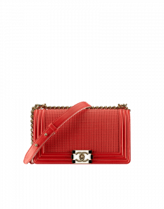 Chanel Red Cube Boy Bag - Cruise 2014