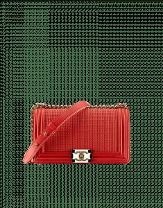 Chanel Red Cube Boy Medium Flap Bag