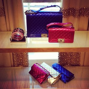 Chanel Shiny Patent Boy Bags from Spring Summer 2014 collection