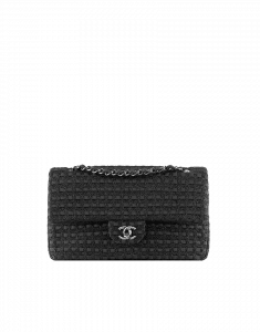 Chanel Tweed Black Classic Flap Bag - Cruise 2014