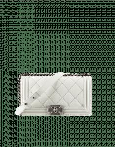 Chanel White Boy Flap Bag - Cruise 2014