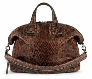 Givenchy Brown Anaconda Nightingale Medium Bag - Spring Summer 2014 Collection