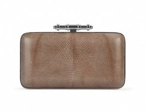 Givenchy Brown Lizard Obsedia Minaudiere Bag - Spring Summer 2014 Collection