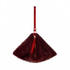 Givenchy Carmine Mink Pyramidal Clutch Bag - Spring Summer 2014 Collection
