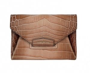 Givenchy Old Pink Crocodile Antigona Envelope Small Clutch Bag - Spring Summer 2014 Collection