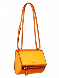 Givenchy Orange Mirrored Pandora Box Mini Bag - Spring Summer 2014 Collection